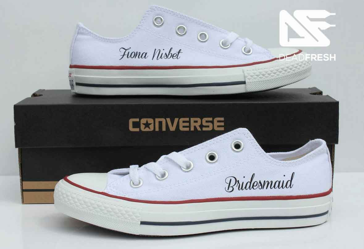 White Ox Custom Bridesmaid Converse f5ec13bde