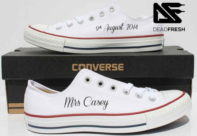 White Ox Custom Bride Converse