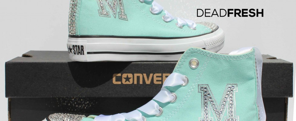 Tiffany Style Custom Wedding Converse