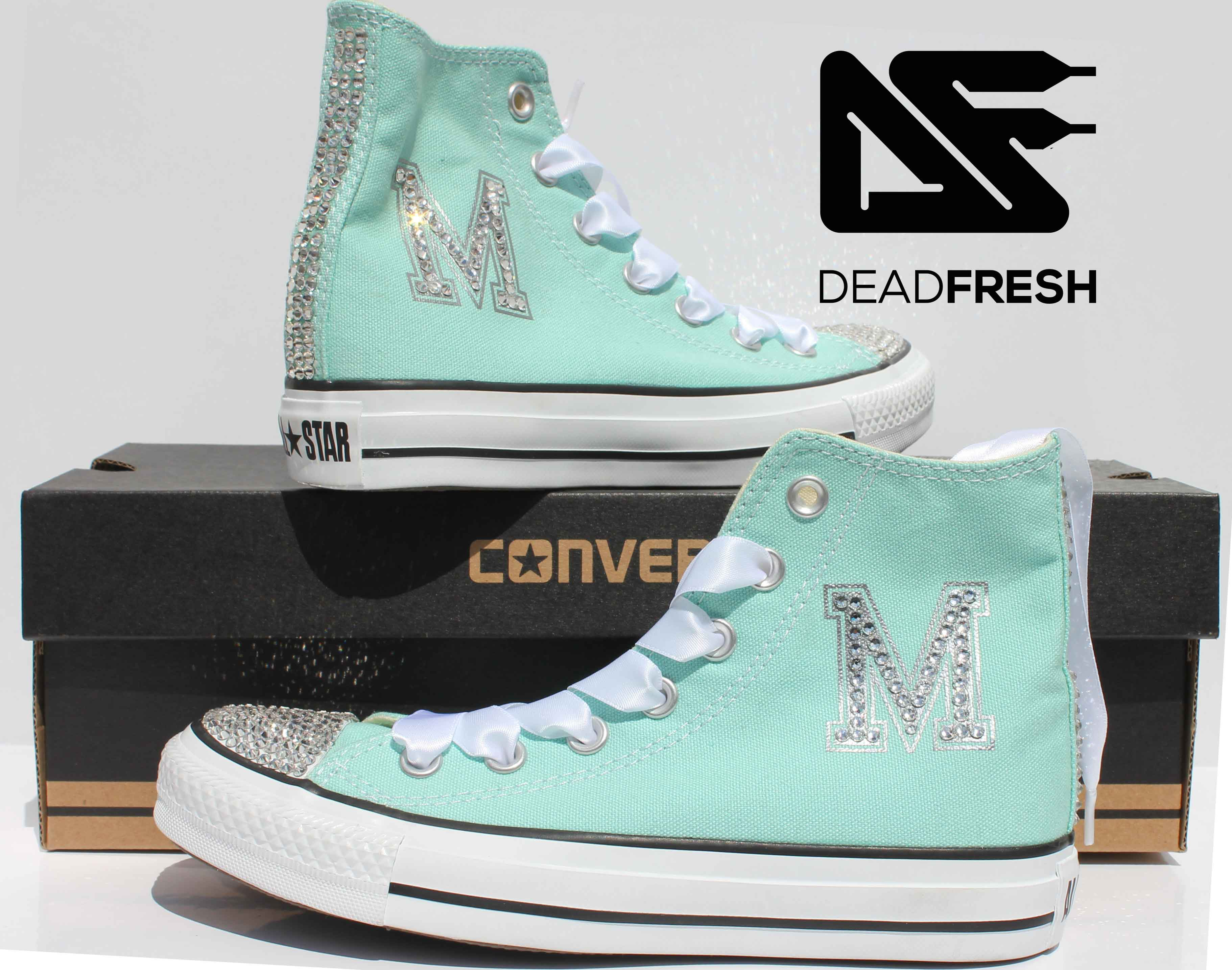 5bb623141d78 Tiffany Style Custom Wedding Converse