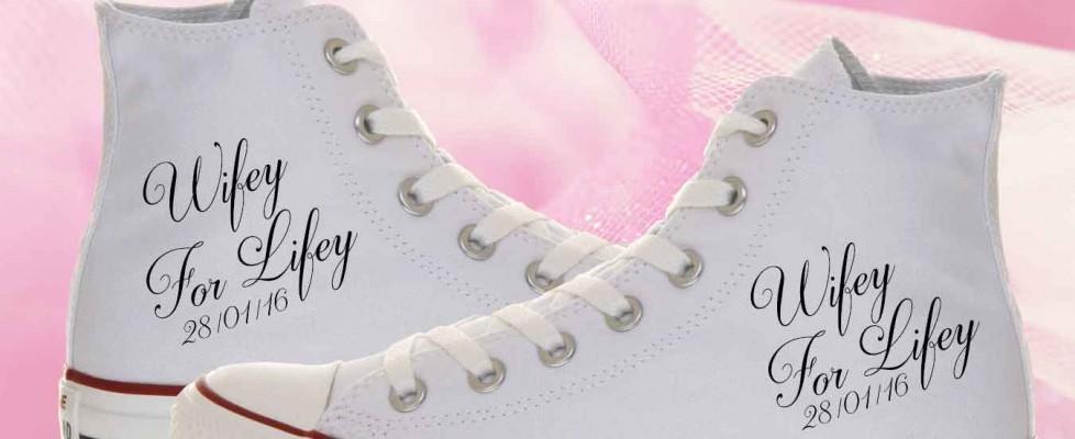 Wifey For Lifey Bride Converse