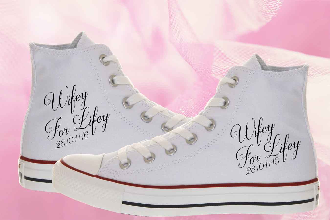 915a0be13b3b Wifey For Lifey Bride Converse