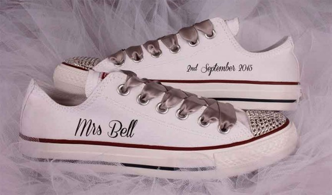 Bridal Converse Shoes - Custom Wedding Converse
