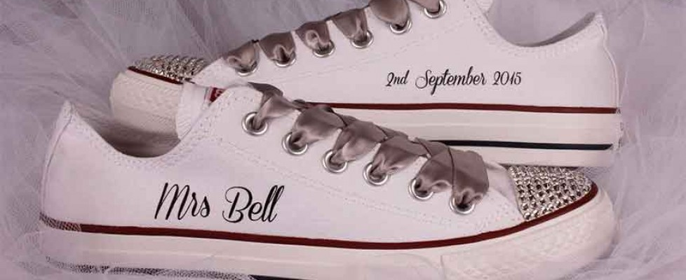 Bridal Converse Shoes