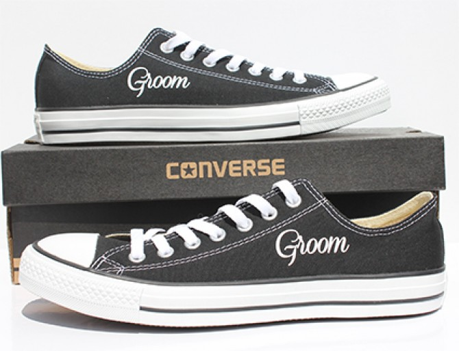0fef4845ebff Groom Converse l Custom Wedding Converse